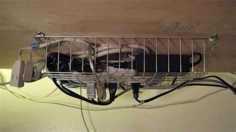 under table cable management manage your cables without blocking your power strip using