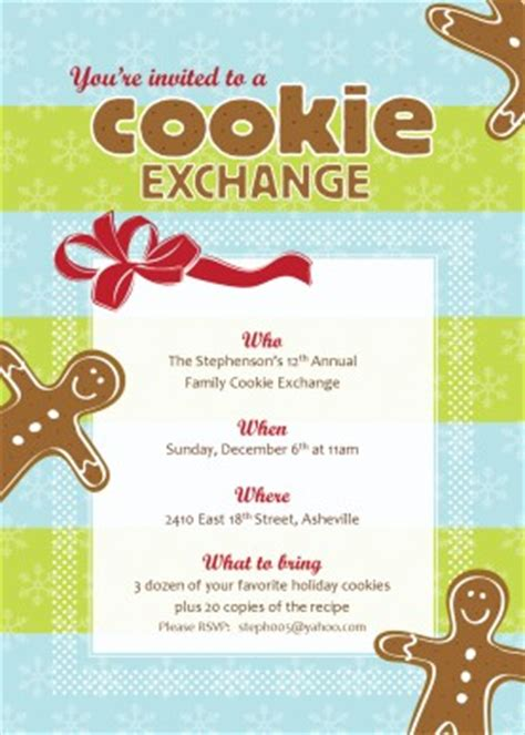 printable christmas cookie exchange template