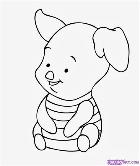 6 baby winnie the pooh coloring pages