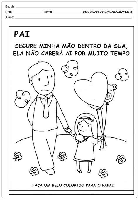 Atividade Dia dos Pais - Colorido para o papai - Escola