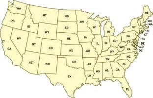 die bundesstaaten der usa mit karte