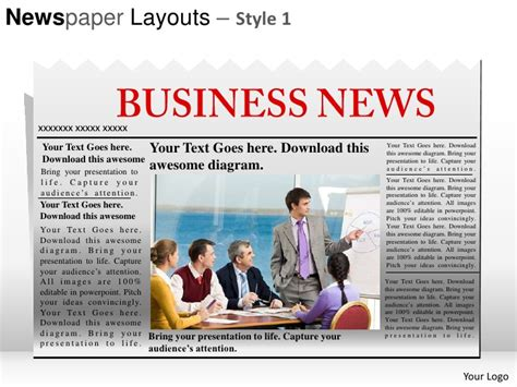 newspaper templates for powerpoint newspaper layouts style 1 powerpoint presentation templates