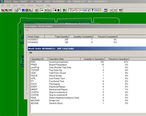 manufacturing execution system mes product and job