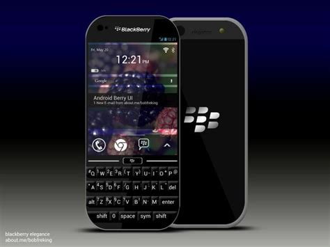 android blackberry blackberry elegance concept smartphone runs android soltan