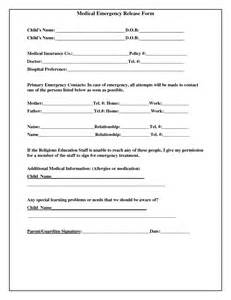 Emergency Room Release Form Template by Best Photos Of Treatment Release Form Template