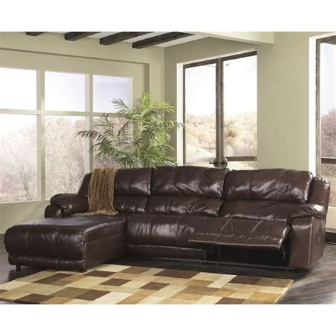 ashley braxton sectional ashley braxton 3 piece left chaise reclining sectional in