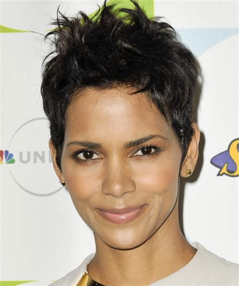 rihanna short straight casual pixie hairstyle black halle berry hairstyles in 2018