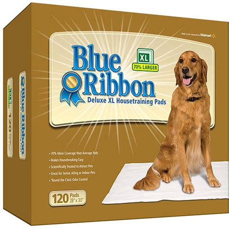 puppy pads walmart blue ribbon deluxe xl pads 120 count walmart