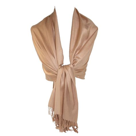 pashmina scarf solid brown hairs