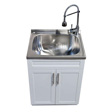 home depot sink installation glacier bay utility laundry sink with cabinet the home