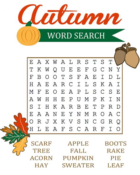 Apple Gift Card Number And Pin - autumn word search jpg 2 400 215 3 000 pixels pinterest