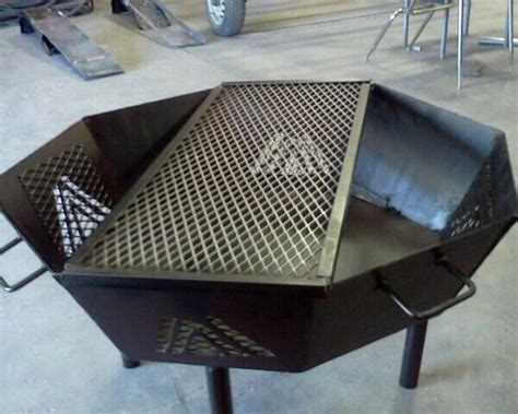 an octagonal pit i designed and built in welding