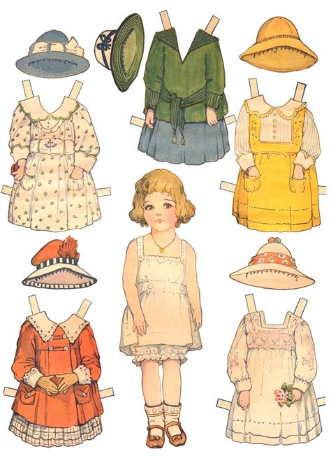 A Paper Doll - paper dolls and paper doll dresses printable from kid