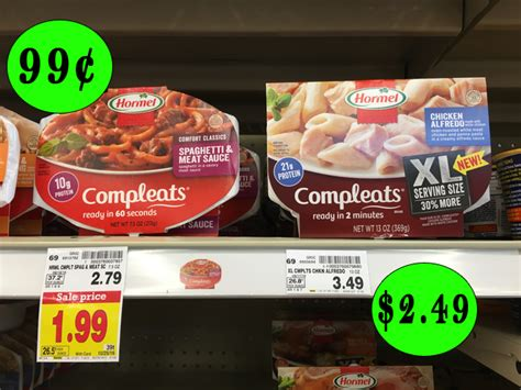 Hormel Compleats Shelf by Hormel Compleats Microwave Meals As Low As 99 162 After