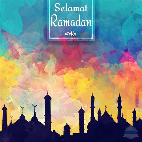 ramadan watercolor background ramadan theme ramadan