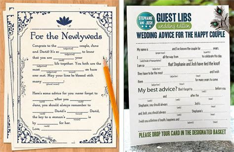 mad libs for wedding guests 25 unique wedding guest book ideas alternative guest