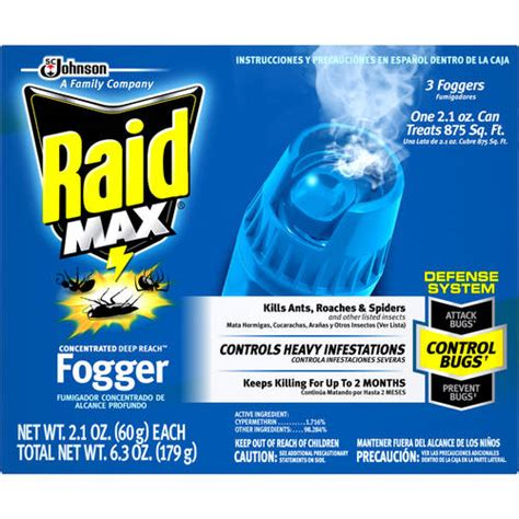 bed bug bombs walmart raid max 3 deep reach concentrated foggers 2 1 oz