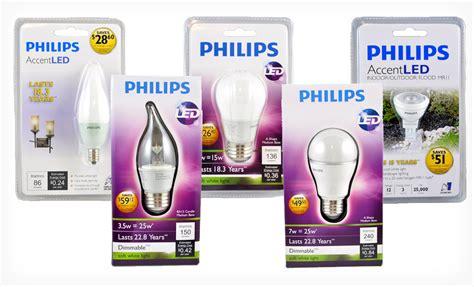 Lu Led Philips 3 Watt philips led 4 pack lightbulb set deal groupon