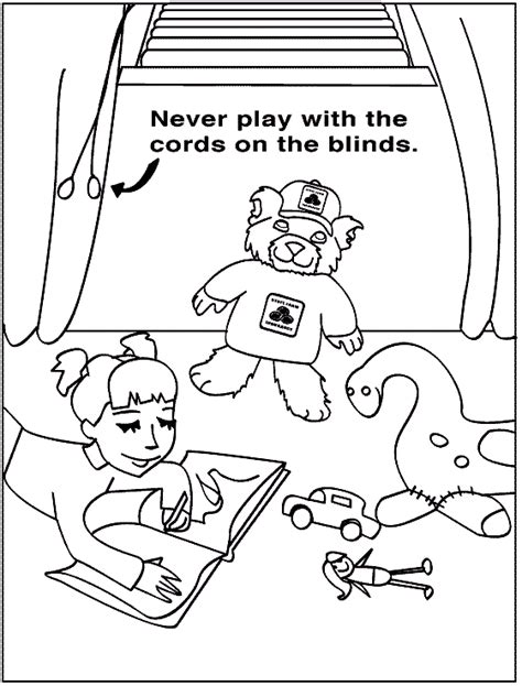 coloring pages for child safety health and safety coloring pages for childrens printable
