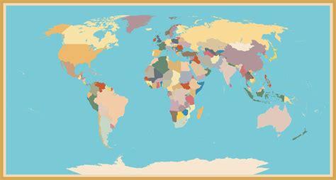 A World a stylish vintage blind world map custom wallpaper