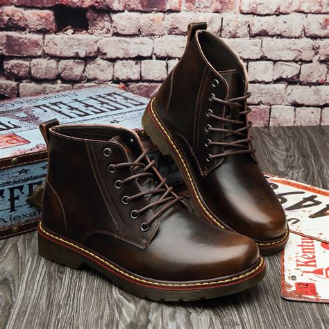2016 Retro Style Handmade Shoes - 2016 boots vintage style oxford flat high shoes