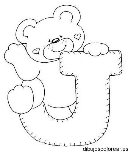 imagenes de ositos con corazones para dibujar dibujo de un oso con la letra j