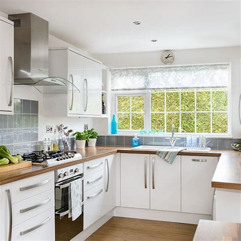 white kitchen ideas uk white u shaped kitchen decorating housetohome co uk