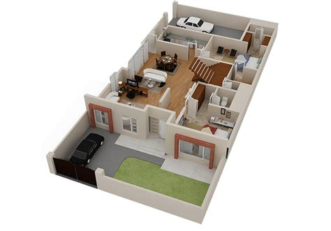 house design with floor plan 3d 2d 3d house floorplans architectural home plans netgains