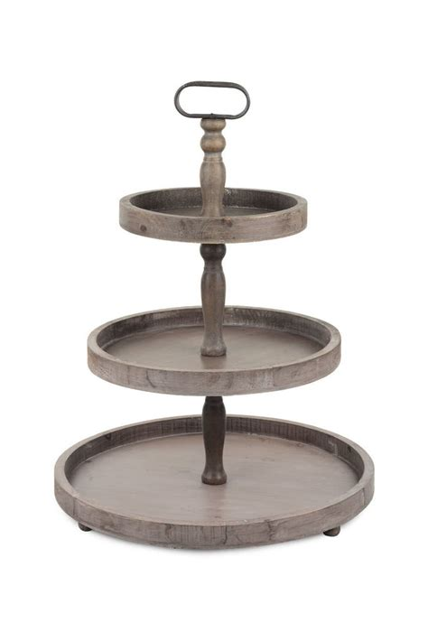 3 tier console wooden 3 tier display tray reclaimed wood jilli boutique