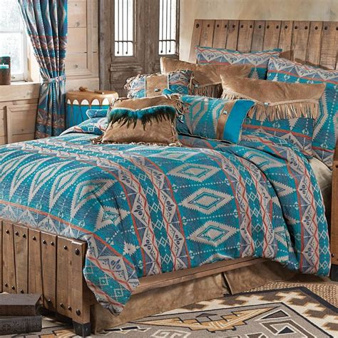 turquoise bedding sets king turquoise diamond southwest chenille bed set king