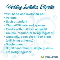 wedding invitation etiquette magnetstreet weddings