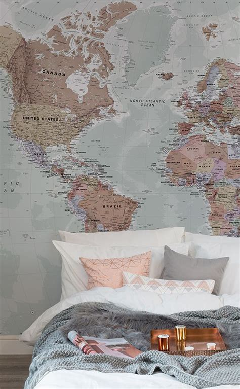 World Map In Bedroom by Best 25 World Map Wallpaper Ideas On Map
