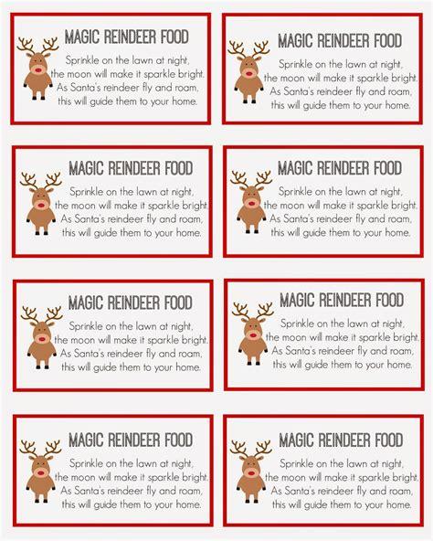 printable magic reindeer food magic reindeer food magic reindeer food reindeer food