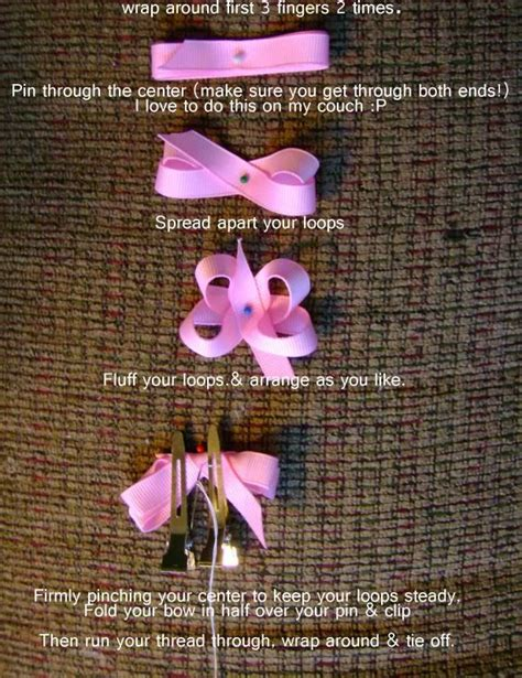 free hair bows instructions free baby hair bow instructions for itty bitty bows
