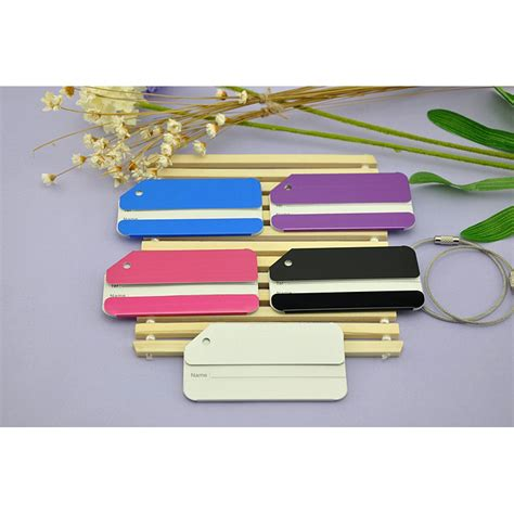 Luggage Tag Besar Penanda Koper Id Koper Suitcase Tag Tag Koper name tag tas koper aluminum silver jakartanotebook