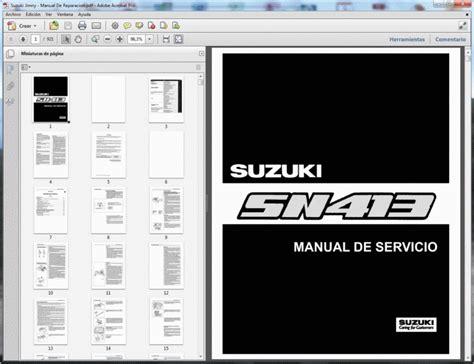 Suzuki Jimny Sn413 Service Manual Manual De Taller