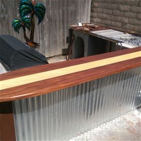 surfboard bar top hand made cedar gates through wedged mortise and tenon joinery by harbour millwork