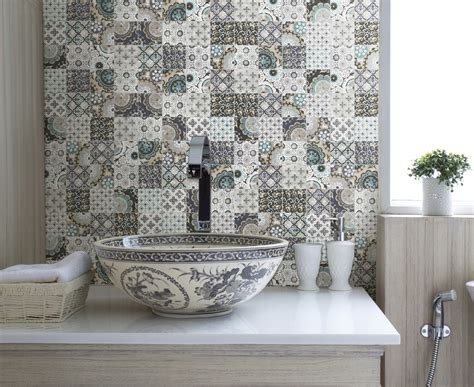 Patchwork Tiles - patchwork backsplash for country style kitchen ideas