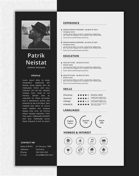 One Page Resume Template Free by One Page Resume Templates 15 Exles To And Use Now