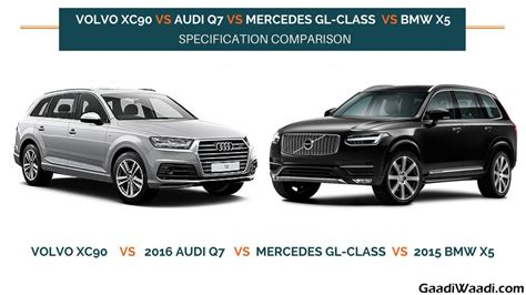 Bmw X5 Vs Audi Q7 by Volvo Xc90 Vs Audi Q7 Vs Mercedes Gl Class Vs Bmw X5