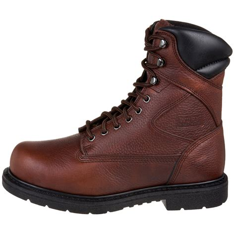 wing steel toe work boots wing brown worx by wing shoes mens oblique toe