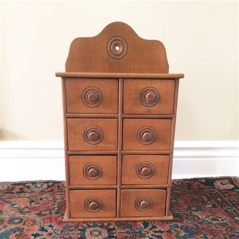 Wooden Spice Drawers by Antique Wood Spice Drawers Vintage Spice Cabinet By