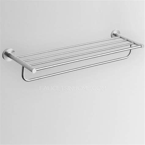 brushed nickel towel bars for bathrooms contemporary stainless steel bathroom shelves towel bars