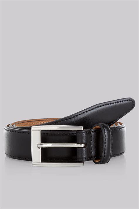 moss 1851 black real leather belt