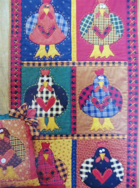 Memes Quilts - chicken quilt pattern chicken heart meme s quilts by catbazaar