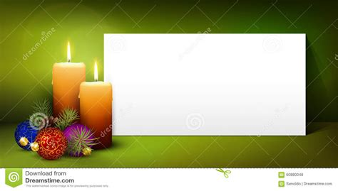 Christmas Greeting Card Template With White Paper Panel Stock Vector Illustration 60880048 Free Greeting Card Template 2