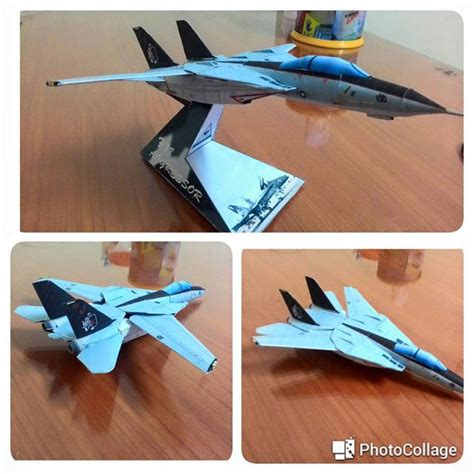 Papercraft Aircraft - grumman f 14a tomcat fighter free aircraft paper model