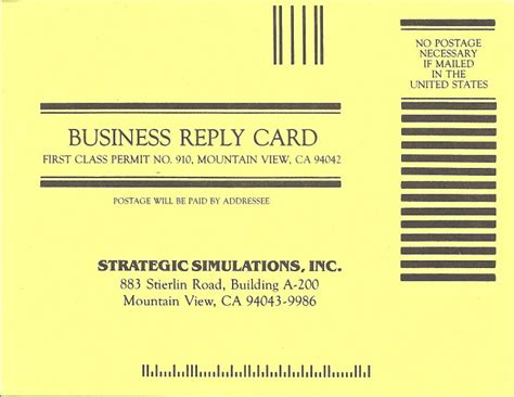 Business Reply Card