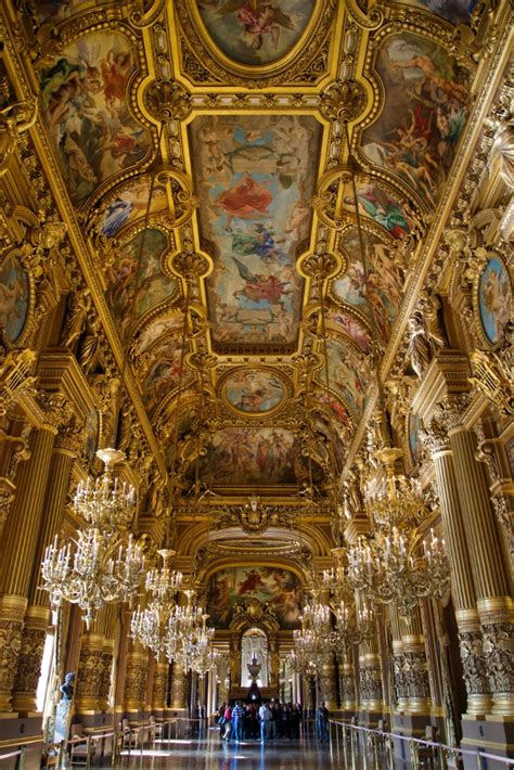Plafond Palais Garnier by Grand Foyer Chandeliers And Frescoed Ceiling Palais