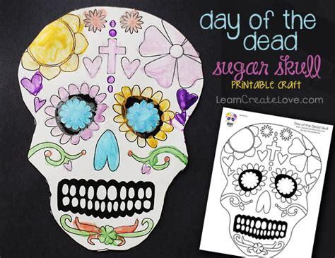 dia de los muertos crafts for printable craft day of the dead skull